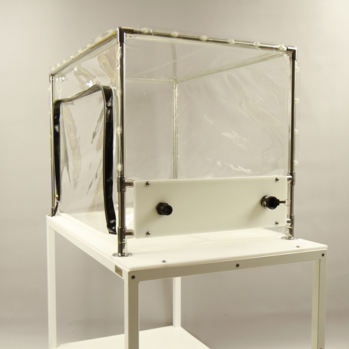 Class Biologically Clean flexible film decontamination chamber.