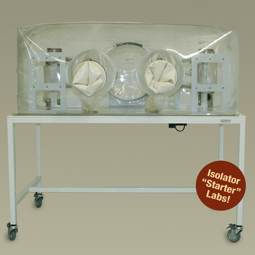 Class Biologically Clean flexible film, single-tier isolator starter lab.