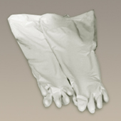 Class Biologically Clean hypalon/CMS dry box gloves.
