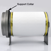 Standard sterilizing cylinder support collar.