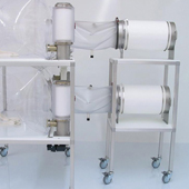 Sterilizing cylinder trolley cart.